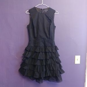 French Connection ruffle cotton dress
